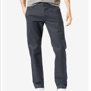 Dockers Men's Alpha Slim Grey Khaki Pants